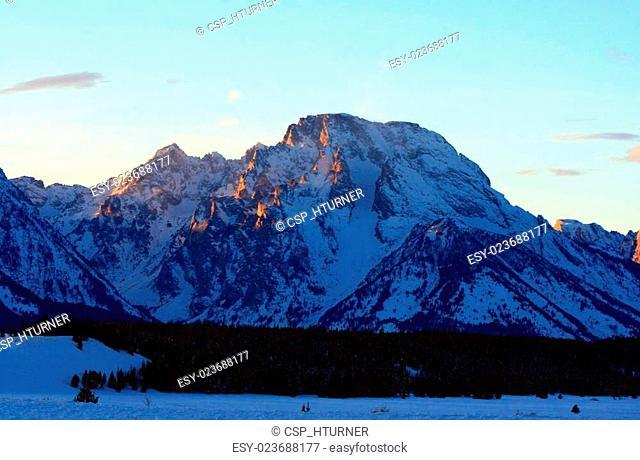 Mount Moran Grand Tetons National Park