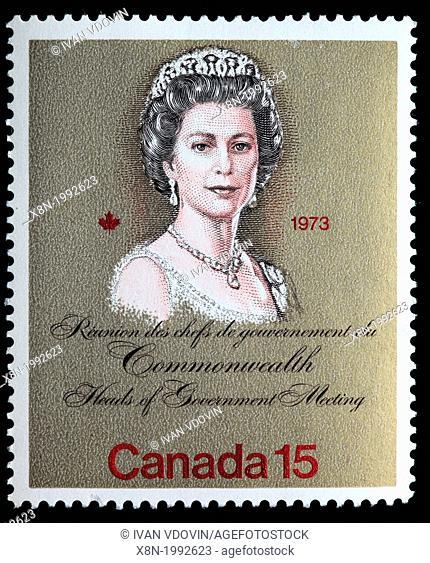 Queen Elizabeth II, postage stamp, Canada, 1973