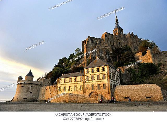 Mont-Saint-Michel bay, Manche department, Normandy region, France, Europe