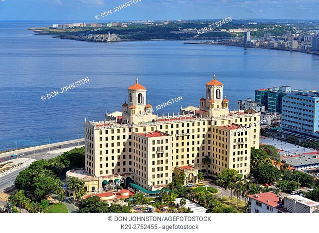 View of Hotel Nacional de Cuba from La Torre Restaurant atop the FOCSA building, La Habana (Havana), Habana, Cuba
