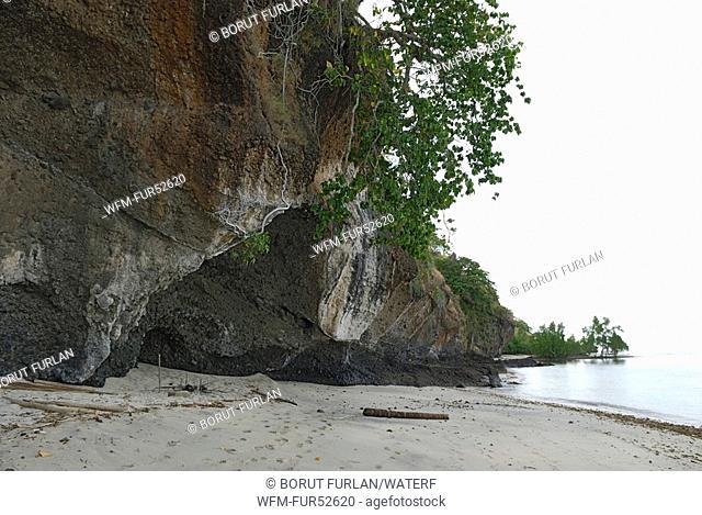 Rocks on Beach of Pantar Island, Alor Archipelago, Lesser Sunda Islands, Indonesia