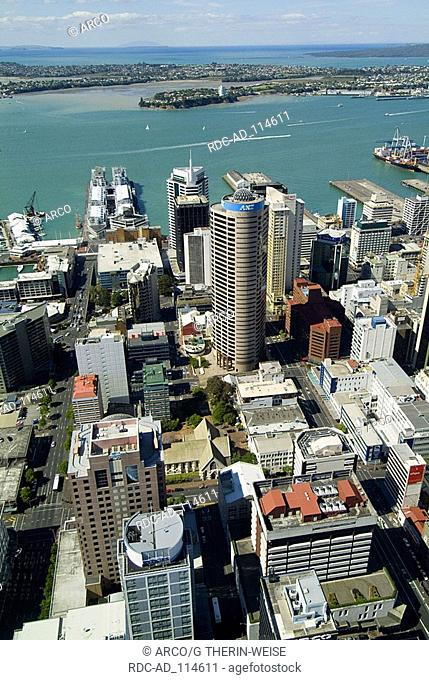 View on the city of Auckland North Island New Zealand