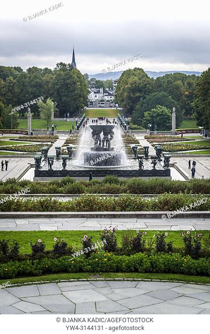 Vigeland Sculpture Park, The Fountain, Oslo, Norway