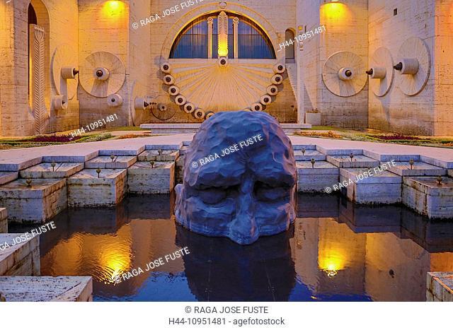 Armenia, South Caucasus, Caucasus, Eurasia, Cascade, Complex, Yerevan, City, art, statue, face, terrace