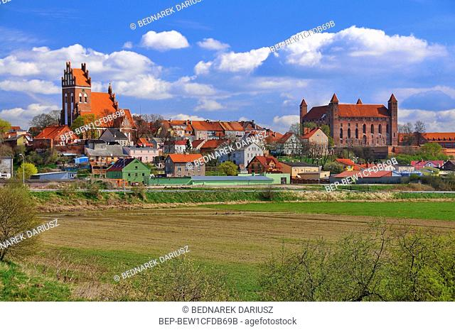 Gniew Castle, one of the most recognizable landmarks in Pomerania, Poland