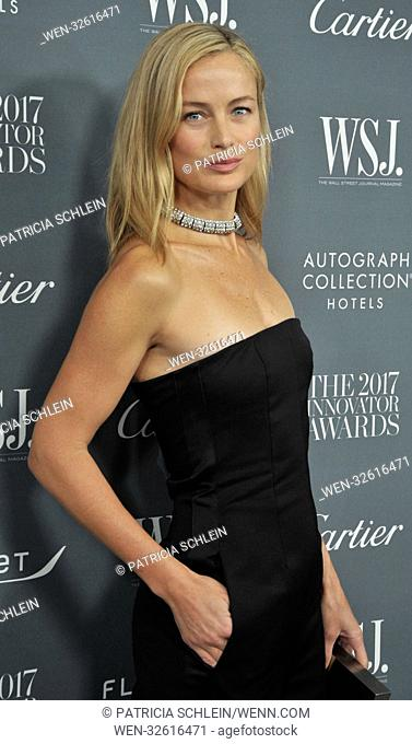 WSJ Magazine 2017 Innovator Awards in New York - Arrivals Featuring: Carolyn Murphy Where: New York, New York, United States When: 02 Nov 2017 Credit: Patricia...