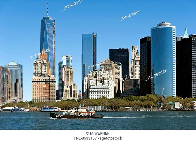 Skyline of Manhattan mit One World Trade Center, New York, USA