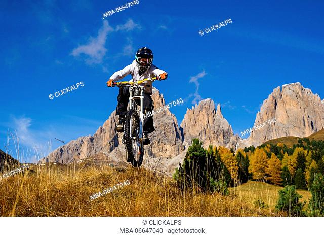 Europe,Italy,Dolomites, Alto Adige,Fassa valley,Bolzano district. Downill