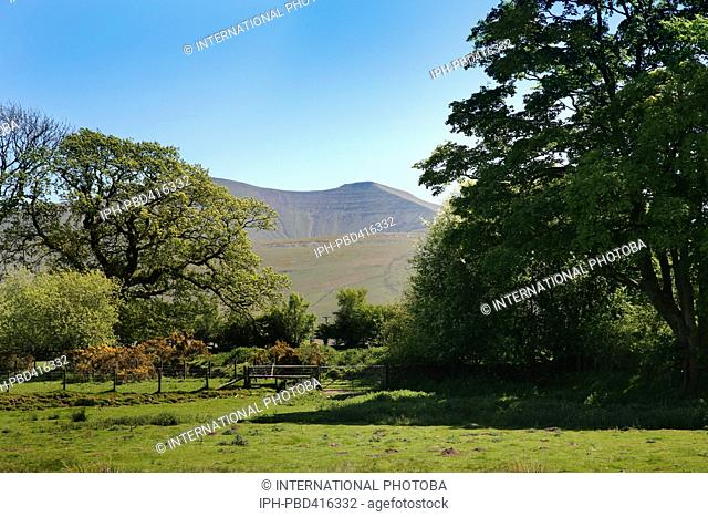 Wales Powys Brecon Beacons Peaceful surroundings at the National Park Visitor Centre known as the Mountain Centre in the Brecon Beacons National Park Peter...