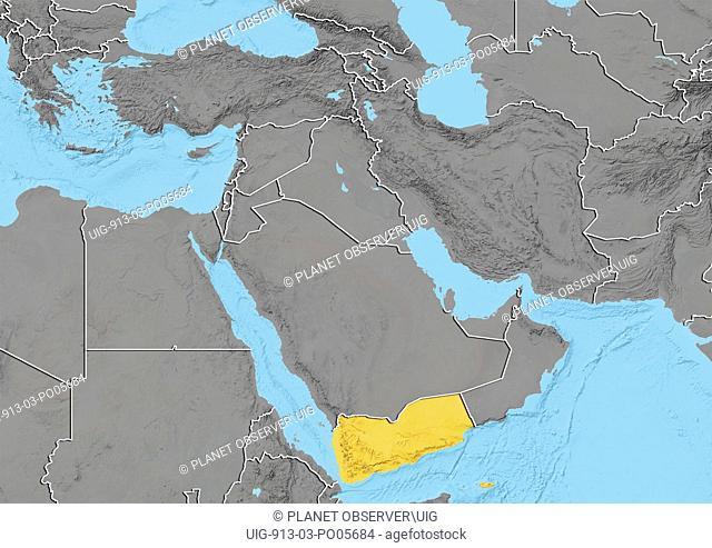 Yemen, Relief Map