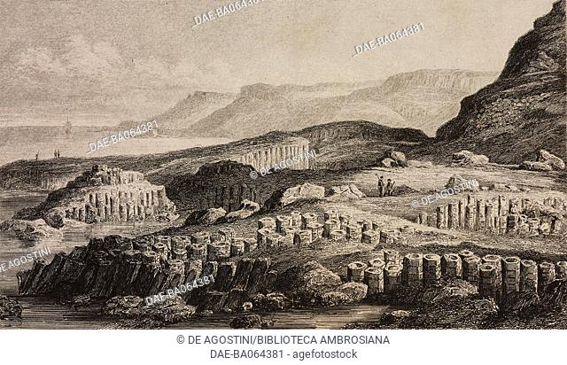 The Giant's Causeway, near Bushmills, Northern Ireland, England, United Kingdom, engraving by Lemaitre from Angleterre, Ecosse et Irlande, Volume IV
