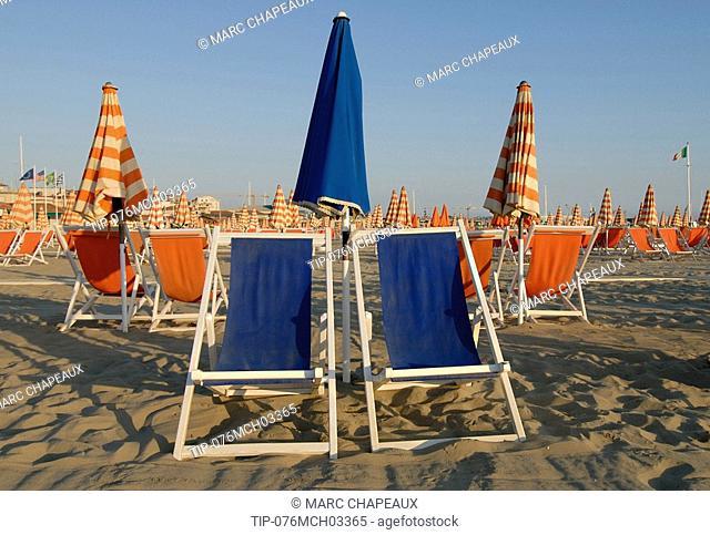Italy, Tuscany, Versilia, Viareggio,beach