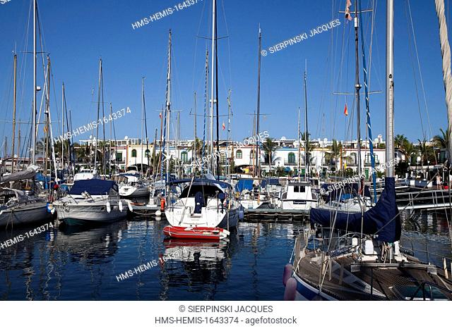 Spain, Canary islands, Gran Canaria, Puerto de Mogan, Marina