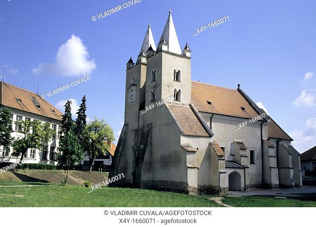 The church dedicated to St  Jacob at Stvrtok na Ostrove, Slovakia from late roman - early gothic period