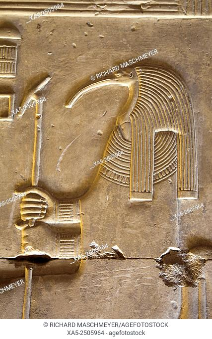 Bas-relief of the God Thoth, Temple of Seti I, Abydos, Egypt