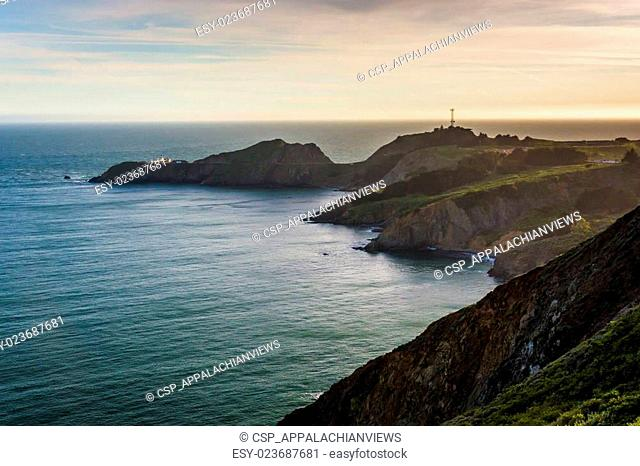View of Point Bonita, in Golden Gate National Recreation Area, in San Francisco, California