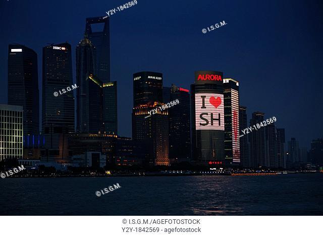 Shanghai in the blue hour