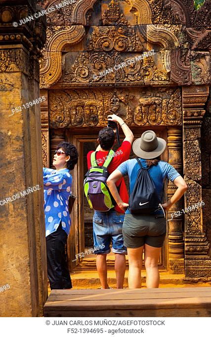 Banteay Srei Temple  Angkor  Siem Reap town, Siem Reap province  Cambodia, Asia