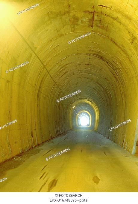 structure, road, lighting, light, tunnel, film