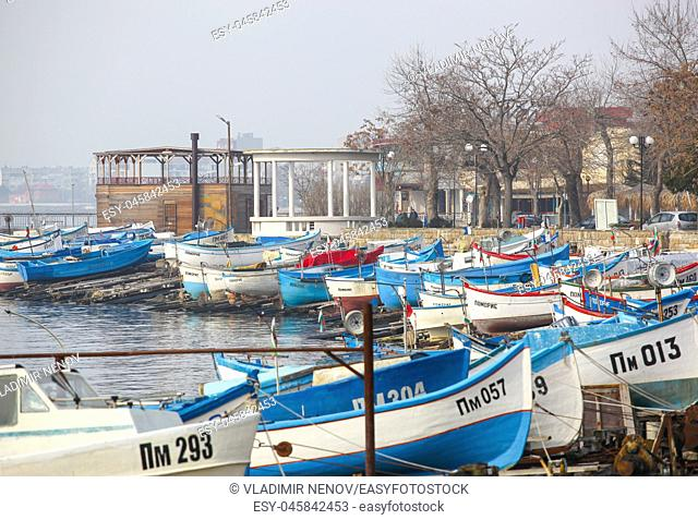 Pomorie, Bulgaria: Fishing Boats At The City Port