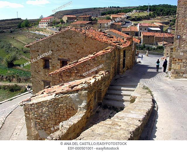 Entrance of Puertomingalvo village, Teruel province, Aragón, Spain