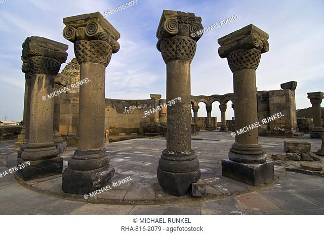 Zvarnots Cathedral, UNESCO World Heritage Site, Zvartnots, Armenia, Caucasus, Central Asia, Asia