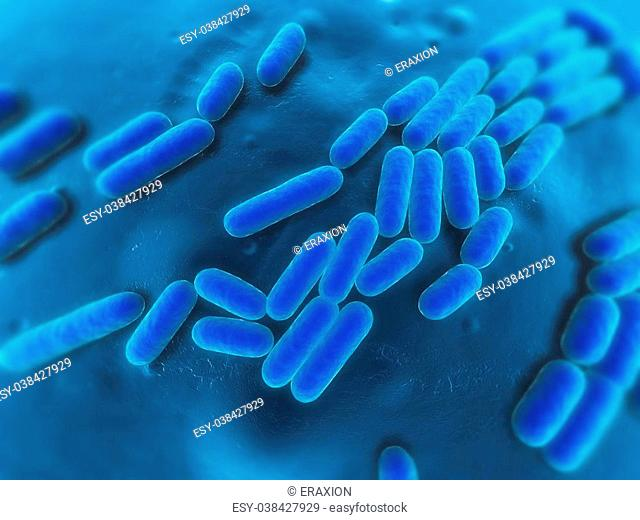 3d rendered close up of some isolated bacteria