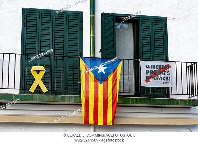 La Senyera Estelada is the flag waved by supporters seeking Catalonia's independence from Spain