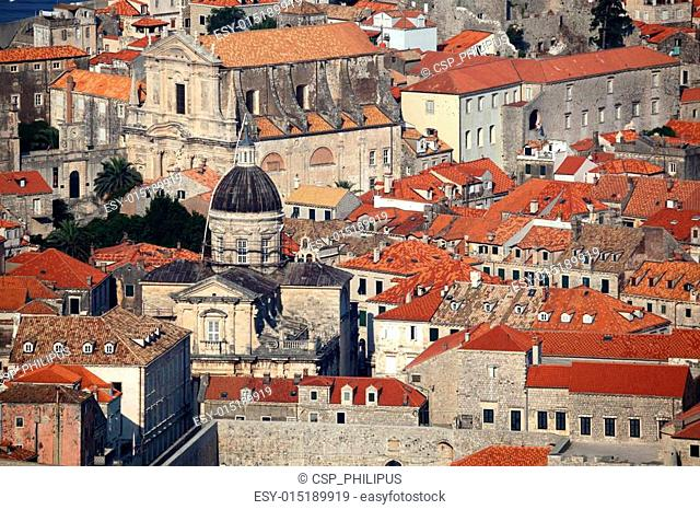 The roofs of Dubrovnik, Croatia