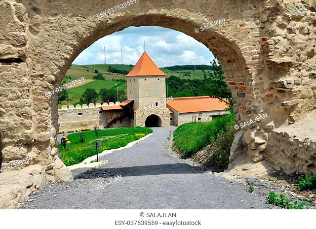 Rupea (Reps, Kohalom) newly renovated medieval fortress in Transylvania, Romania