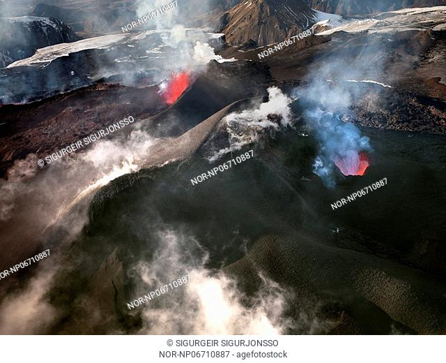 Volcanic eruption in South Iceland, image shot 28. Mars 2010
