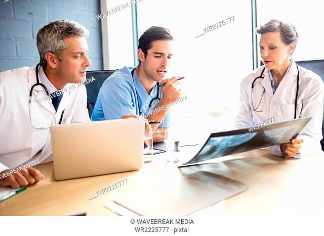 Medical team having a meeting