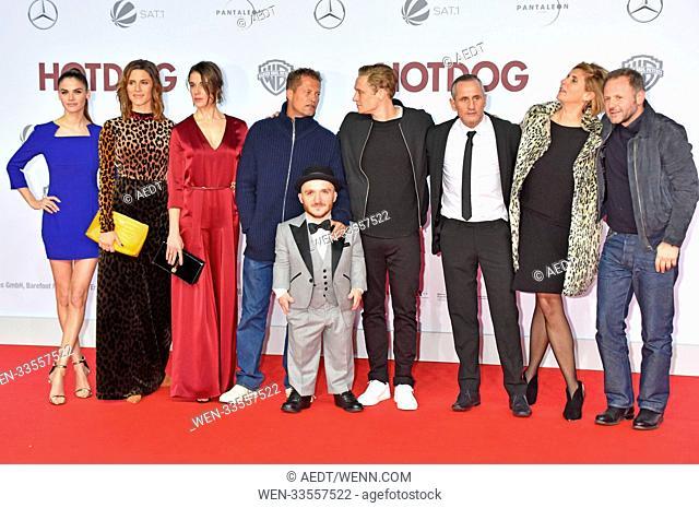 Ppremiere of 'Hotdog' at CineStar movie theatre at Sony Center Potsdamer Platz. Featuring: Lisa Tomaschewsky, Christina Hecke, Anne Mueller, Til Schweiger