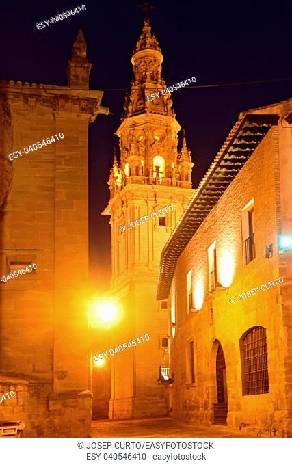 night at the Cathedral of Santo Domingo de la Calzada, La Rioja, Spain