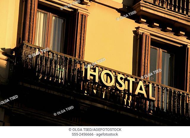 Hostal, Barcelona, Catalonia, Spain