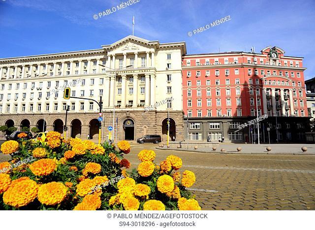 Nezavisimost square in Sofia, Bulgaria