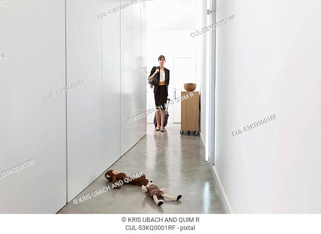 Mother leaving for business trip