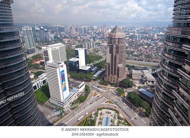 View from the Twin Towers Petronas Twin Towers, Kuala Lumpur, Malaysia