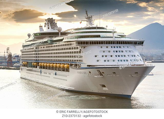 Early morning arrival. Voyager of the Seas. Naples. Italy
