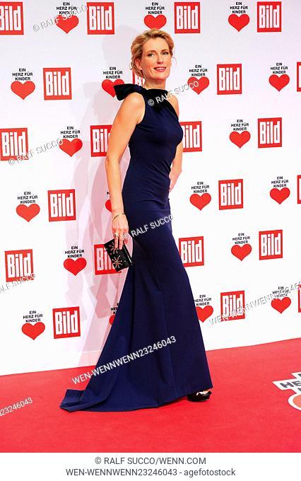 Celebrities attend the Ein Herz für Kinder Gala 2015 at Hangar 7 Flughafen Tempelhof Featuring: Maria Furtwaengler Where: Berlin