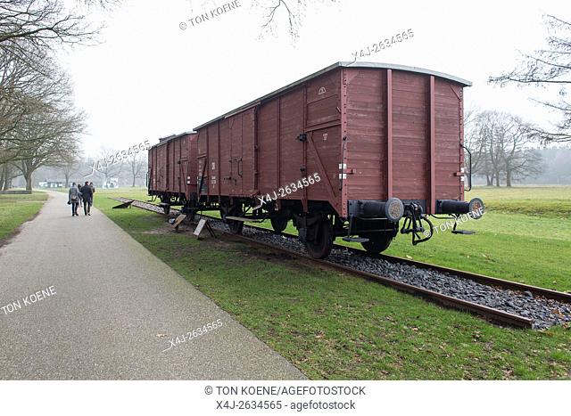 Memorial center Westerbork in Holland. More than one hundred thousand jews were deported from the Westerbork transit camp