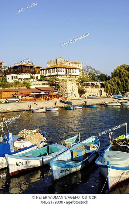 Nessebar, harbour, Bulgaria, Black Sea