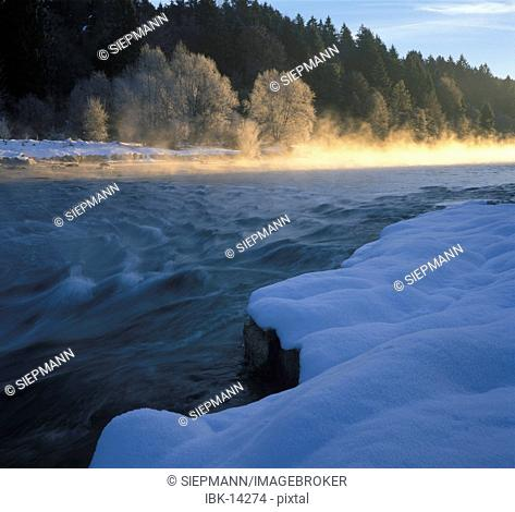 River Isar Geretsried Bavaria Germany