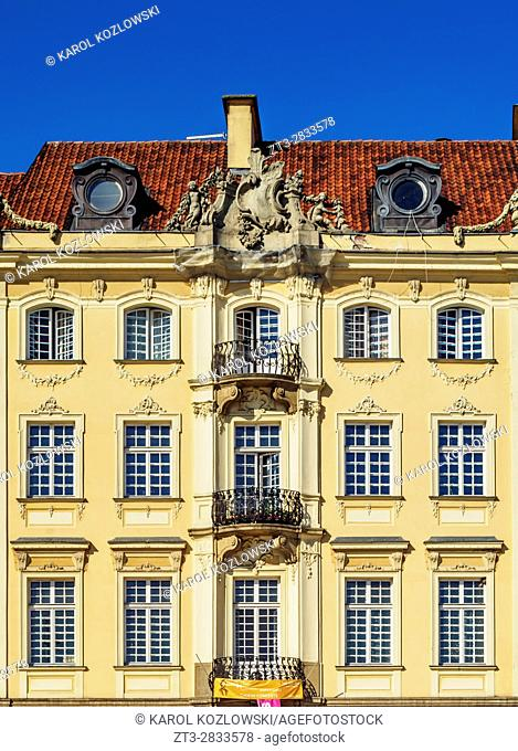 Poland, Masovian Voivodeship, Warsaw, Old Town, Architecture of the Castle Square