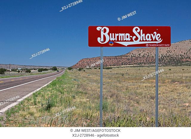 Seligman, Arizona - A Burma-Shave sign on historic Route 66