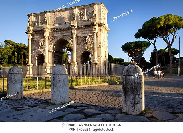 Arch of Constantine adjacent to the coliseum, Rome Lazio Italy