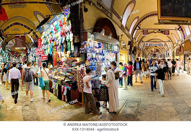 Inside the Grand Bazaar Kapalicarsi Istanbul Turkey