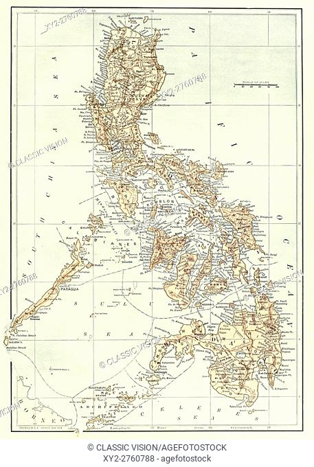 Spanish American War Philippines Map.Philippines During The Spanish American War Stock Photos And Images
