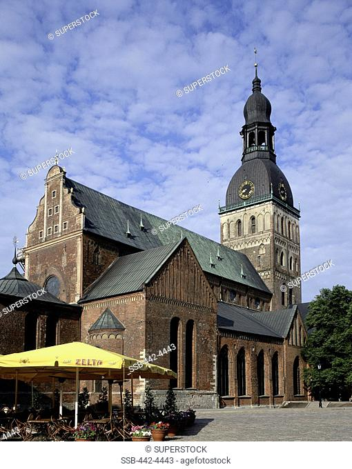 Low angle view of a cathedral, Riga Dom Cathedral, Riga, Latvia