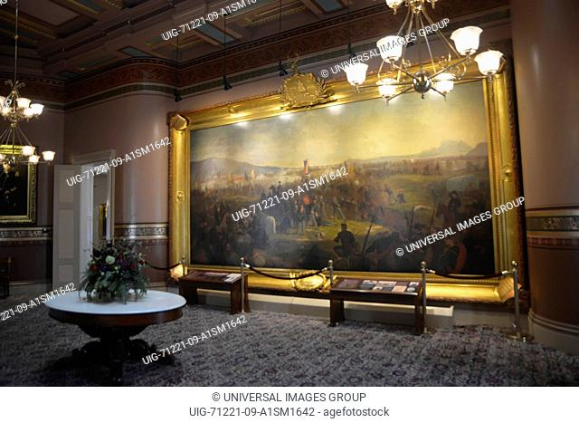 A Civil War painting is displayed at Vermont Statehouse